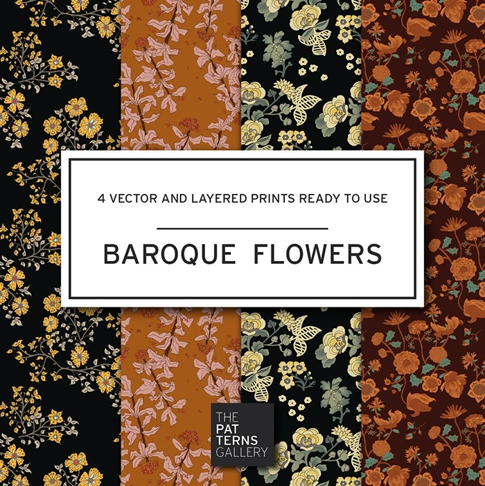 Baroque flowers PP002
