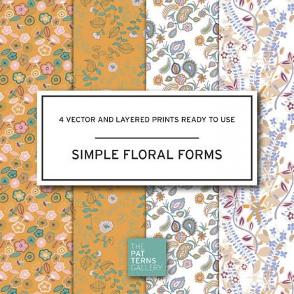 Simple floral forms PP017