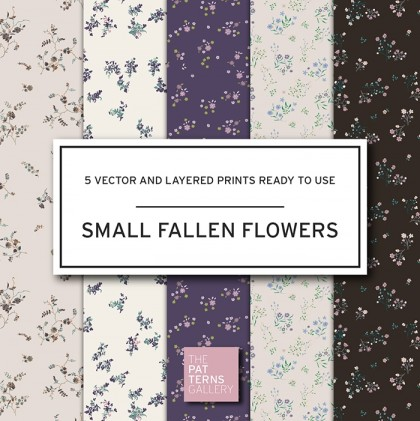 Small fallen flowers PP020